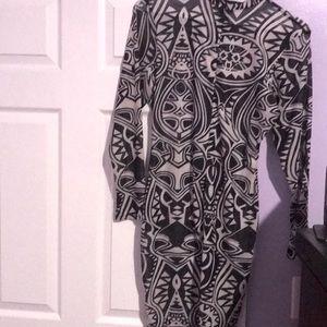 Black and white body con dress